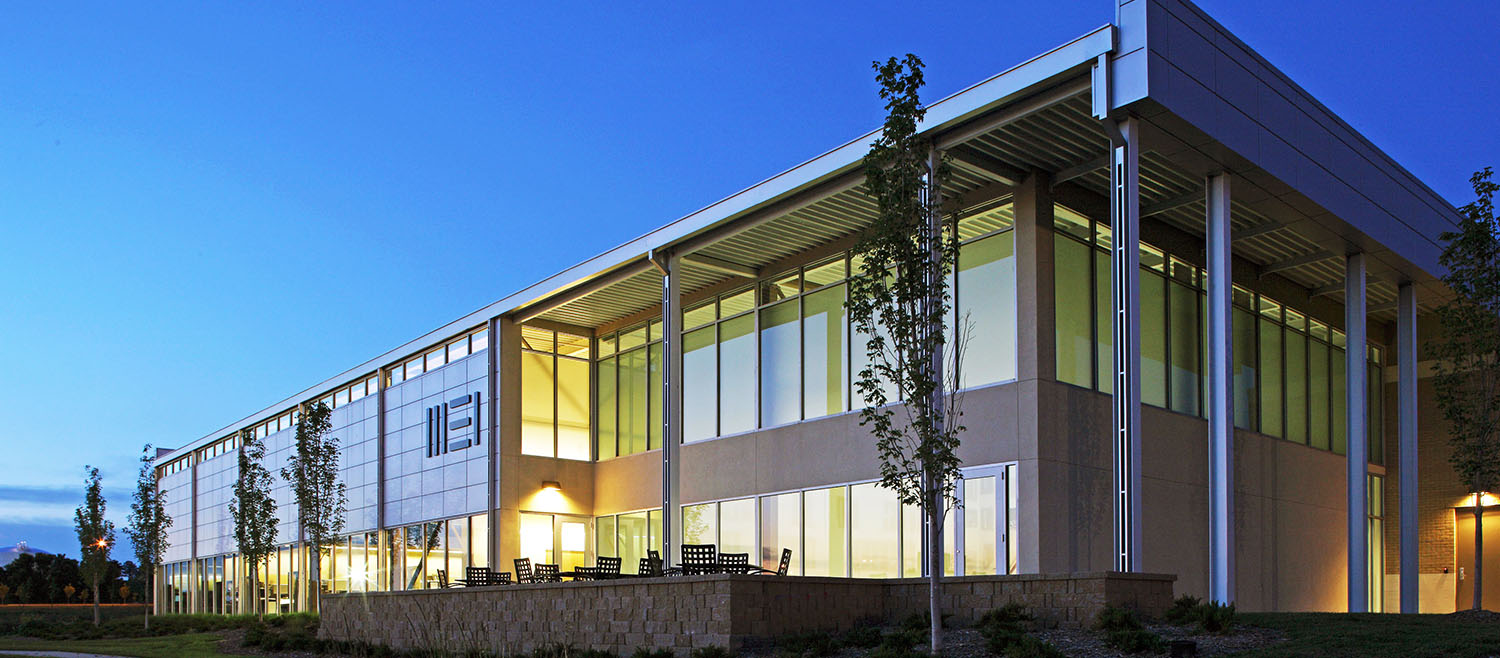 Morrissey Engineering's 4940 Building is the first building in Nebraska to be awarded LEED Platinum certification by the U.S. Green Building Council.