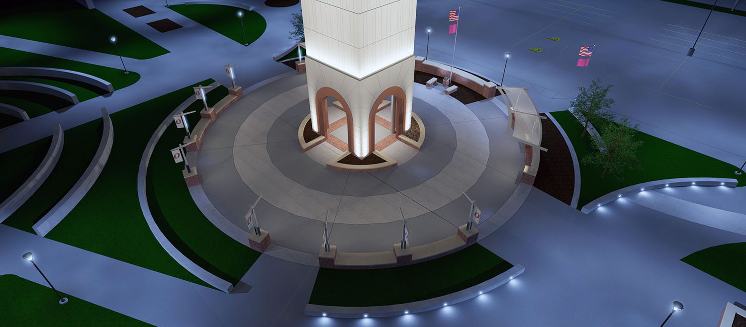 Morrissey Engineering has been retained to provide the lighting design for UNO's Henningson Memorial Campanile.
